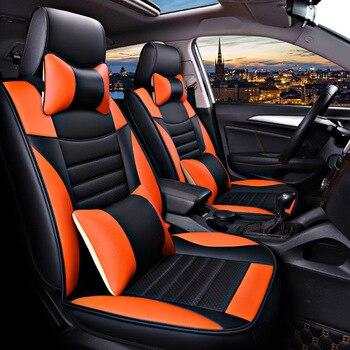 (Frontal + trasero) Funda de cuero de lujo para asiento de coche para Ford focus 1 2 3 mk2 mondeo 3 4 mk3 mk4 kuga 2 de 2010 2009 2008 2007