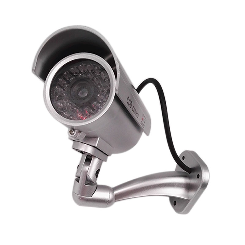 High Simulation Waterproof Fake Dummy Camera Outdoor Indoor Security CCTV Video Surveillance Camera with Red LED Flashing Light Surveillance Cameras     - title=