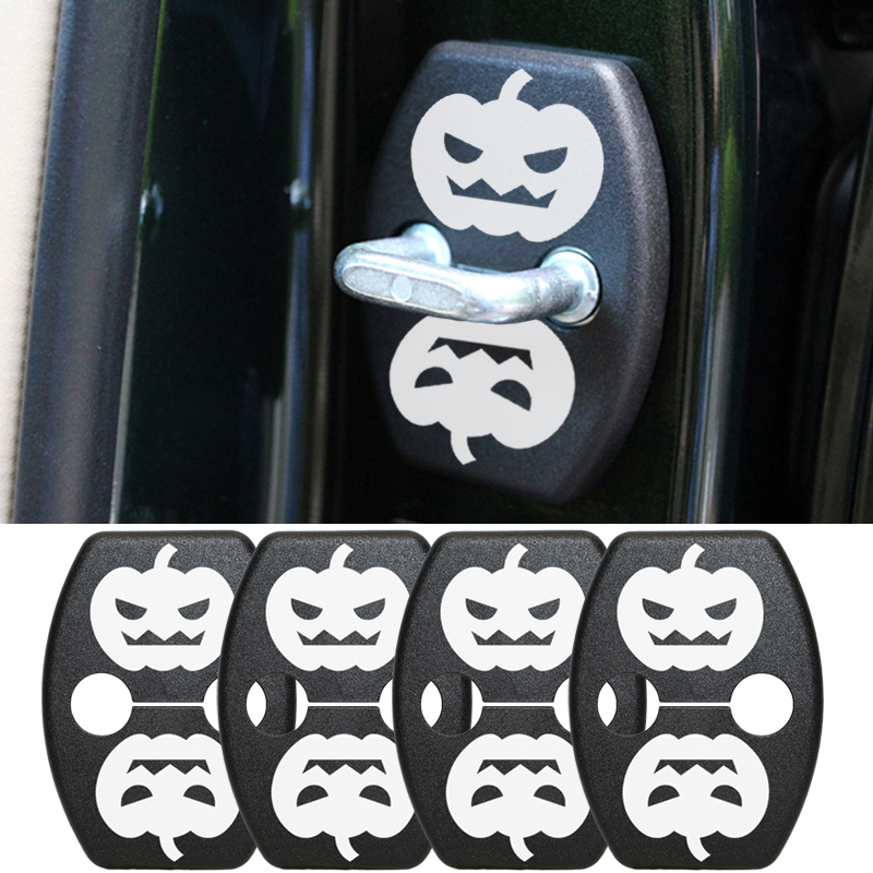 Car Door Lock Cover DIY Pumpkin For Toyota Yaris Highlander Prius Corolla Camry 06-11 Rav4 07-12 Reiz Vois 09-13 Greatwall M4