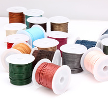OlingArt 1.5mm 5M/lot Multicolor Round Leather Cord /Wire earrings Bracelet choker necklace DIY jewelry making цена