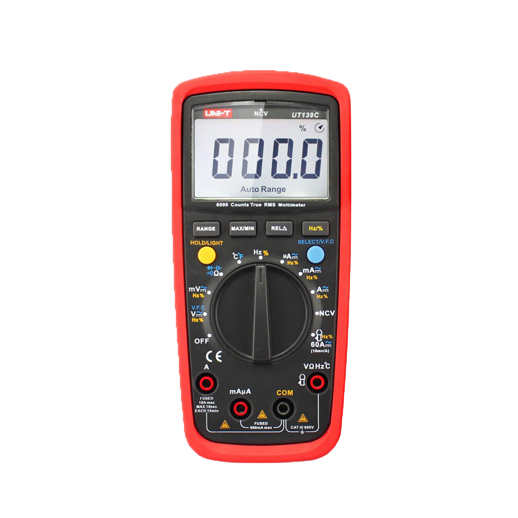 UNI-T UT139C True RMS Digital Multimeters AC/DC Digital Multimeter Volt Amp Ohm Capacitance Tester