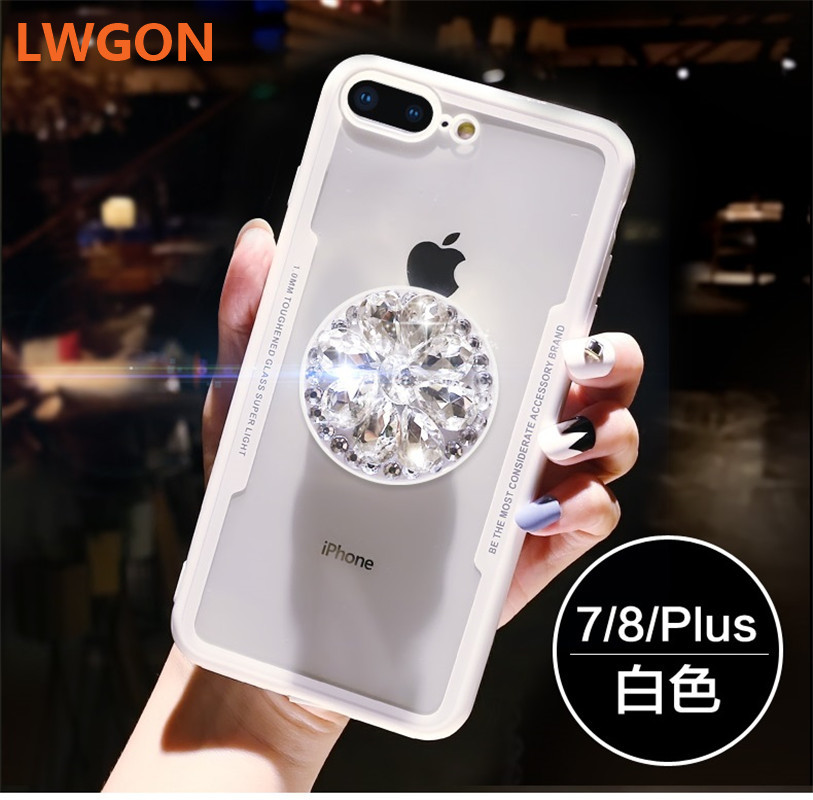 Cute 3D diamond drill flower ring soft case for VIVO V5 V5S V7 V9  V11 V11 Pro Y53i Y53 X21 X23