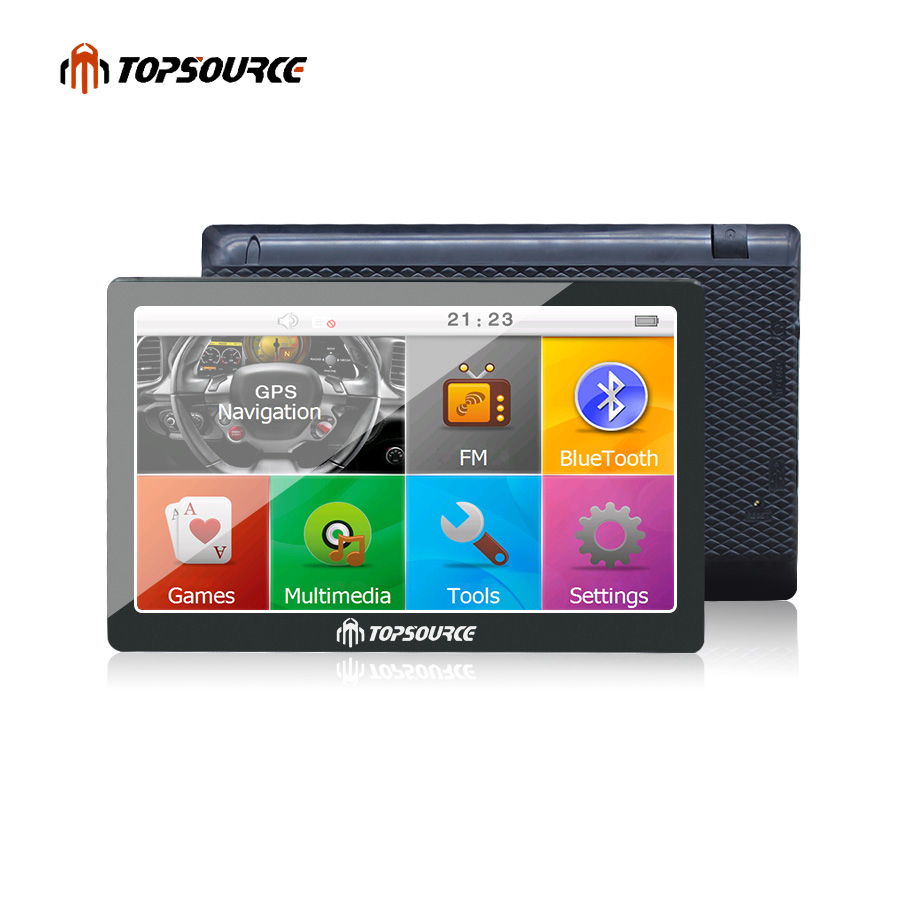 TOPSOURCE Vehicle GPS TS708 7 inch Car GPS Navigation 800MHZ FM 8GB 2018 free Maps for Navitel Europe TRUCK GPS MP3/MP4 Player 5 inch hd car gps navigation cpu 800mhz fm 8gb ddr3 maps for europe us au truck navi camper caravan