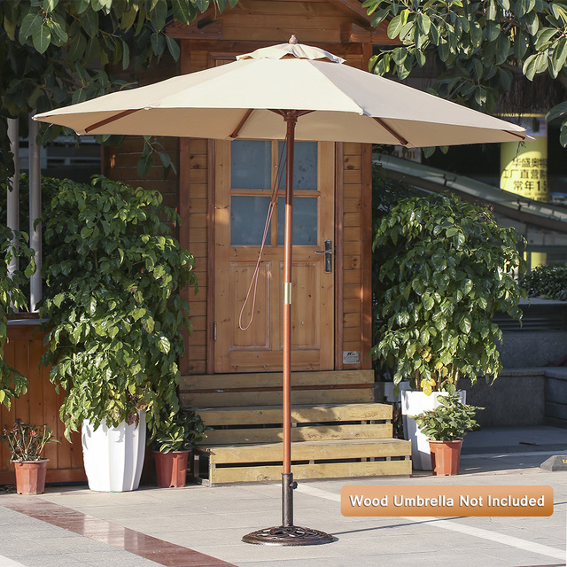 Ikayaa 19 8lb Heavy Duty Patio Garden Umbrella Base Stand Cast Iron Anti Rust Antique