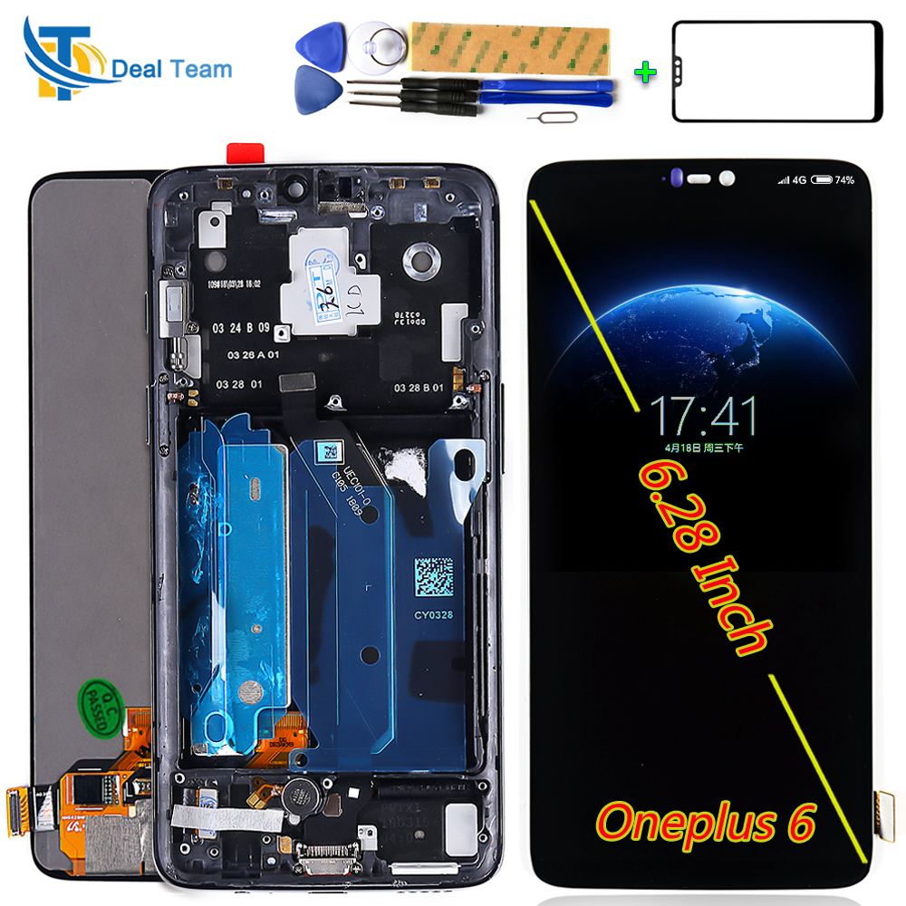 Optic AMOLED For Oneplus 6 6 28 inch Touch Screen Panel Digitizer Assembly 1080 1080 LCD