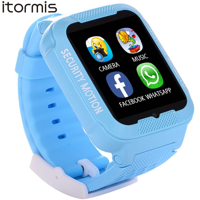 ITORMIS Kids Smart Watch Baby Safe Watch with GPS Location Finder Tracker Camera Anti-lost SOS Call Waterproof for Android iOS 1 54 screen children security gps smart watch with camera sos call location safe anti lost devicer tracker for ios and android