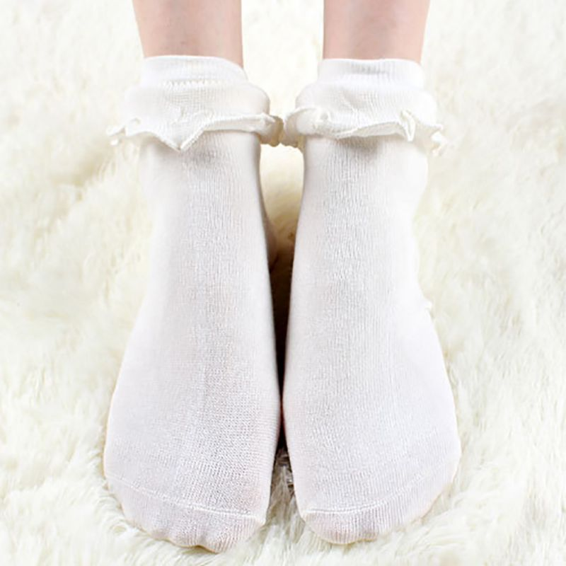 Lovely Ladies Princess Frilly Sock With Retro Lace Ruffle Socks Japanese Kawaii Women White Lace Ankle Socks H6