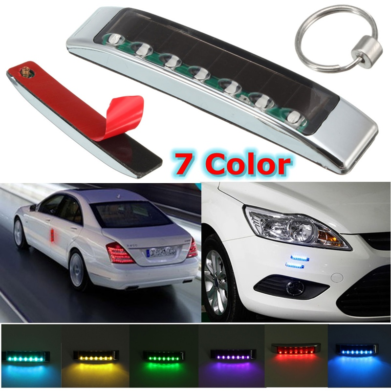 Newest Wireless Light Car Solar LED Emergency Light Flashing Lights DC 12V Strobe Warning Light Colorful