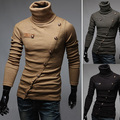 2016 Nueva Llegada hombres de la Marca Suéteres Jersey de Cuello Alto Patchwork Personalizada Papel superíndice Diseño Jerseys Hombres Ropa