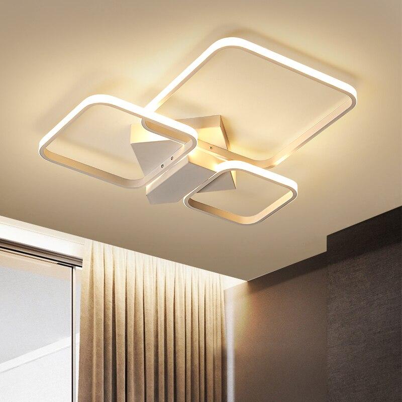 Lumières de plafond moderne à LEDs en aluminium blanc pour la cuisine de chambre à coucher Plafon éclairage à la maison-in Plafonniers from Lampes et éclairages on Omicron Store