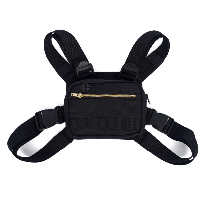 Unisex Fashion Shoulder Bags Hip Hop Chest Rig Bag Adjustable Crossbody West Streetwear Functional Waist Packs