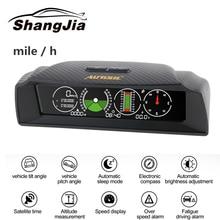 AUTOOL X90 GPS Speed Slope Meter Inclinometer Car HUD  Automotive Tilt Pitch Angle Protractor Latitude Longitude Smart Compass autool итальянский измерительный инструмент