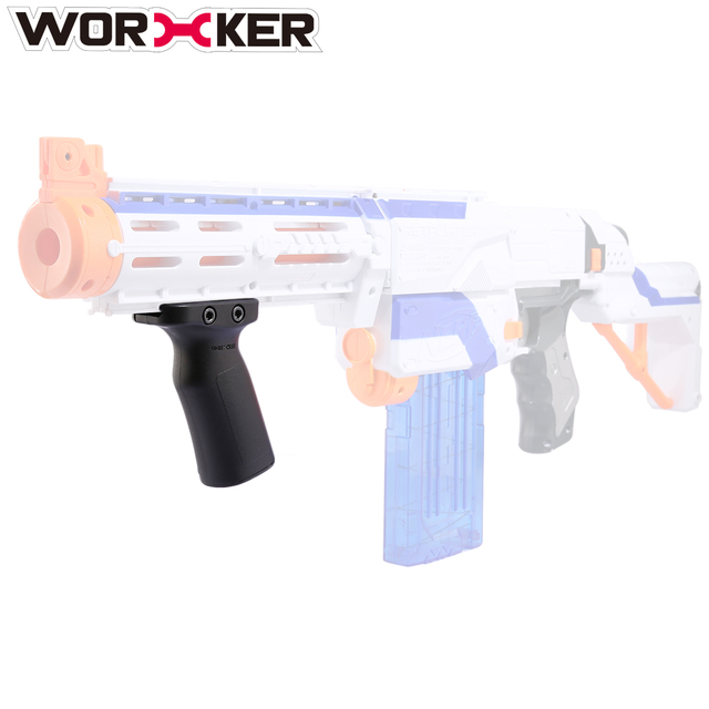 Worker Adjustable Grip Toy Accessories for Nerf Toy Gun with Guide  Rail(Type-A