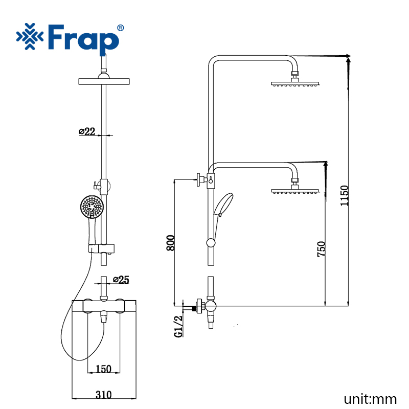 FRAP new Thermostatic shower Faucets mixer tap wall mounted bath room shower faucets taps Sanitary Ware Suite FLD1192