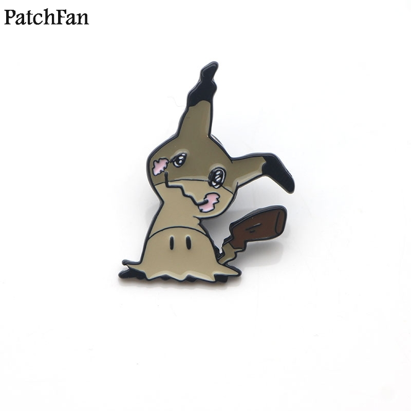 Arts,crafts & Sewing Home & Garden 20pcs/lot Patchfan Pocket Monster Mimikyu Cartoon Zinc Tie Pins Backpack Clothes Brooches For Men Women Hat Badges Medals A1649