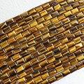 """Precio al por mayor de alta calidad tigre amarillo de ojos de piedra 10x14mm forma de rectángulo diy joyería de los granos flojos 15 """"B353"""