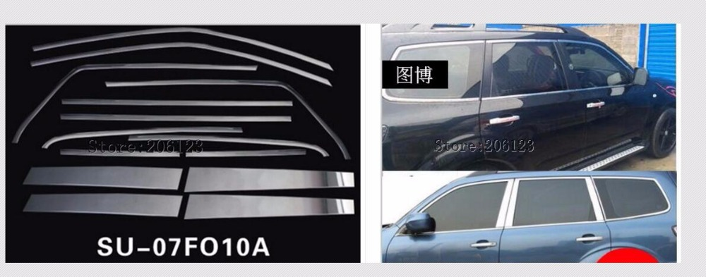 Car styling stainless steel glass window garnish pillar middle column trim hoods for subaru Forester 2008 2009 2010 2011 2012Car styling stainless steel glass window garnish pillar middle column trim hoods for subaru Forester 2008 2009 2010 2011 2012