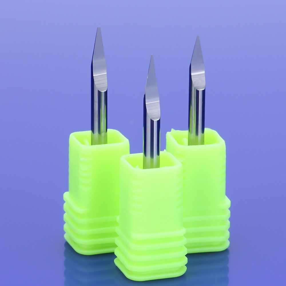 1 stücke 3A TOP Qualität 3,175mm CNC Router bit Präzision schleifen V Form Hartmetall PCB Gravur Bits fräsen Cutter
