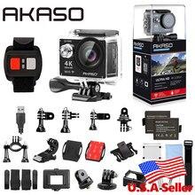 Akaso ek7000 4 К WI-FI Открытый Действие Камера Ultra HD Go Водонепроницаемый Cam Pro велосипед шлем 1080 P 60fps видео экстремальные виды спорта перемещение