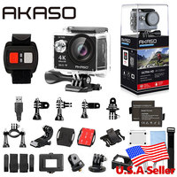 AKASO EK7000 4K WIFI Outdoor Camera Ultra HD Go Waterproof Mini Cam Pro Bike Video Sports