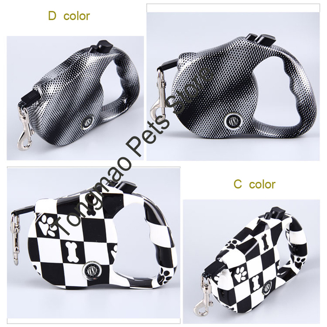 [TKM] 5M Pets Dog Retractable Leash Rope Dog Leash Rope Pet Dog Nylon Training Leads Rope for Fastness and Wear-resisting CL137