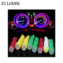 цена на 100pcs T5 led W3W T5 bulb 12V led car lamp Instrument  Light COB Auto Led Car Side Wedge Dashboard  auto Lamp  free shippping