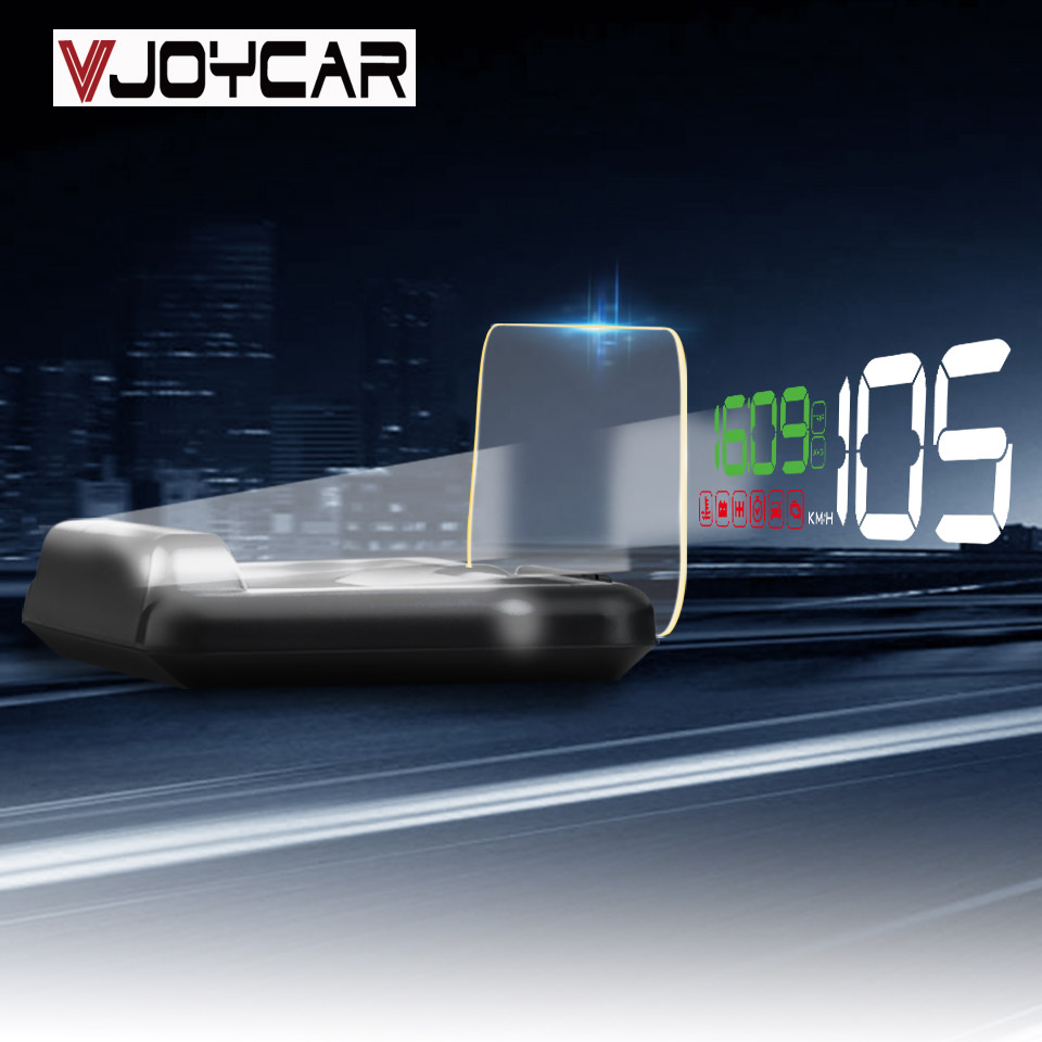 VJOYCAR C500 HD Projector Head Up Display Digital Speedometer Car HUD OBD2 Windshield Projector Stereo Imaging 8 Display Mode 30 car hud 5 8 tft obdii head up display digital car speedometer on board computer obd2 windshield projector p12 p10 a100 a8 c500