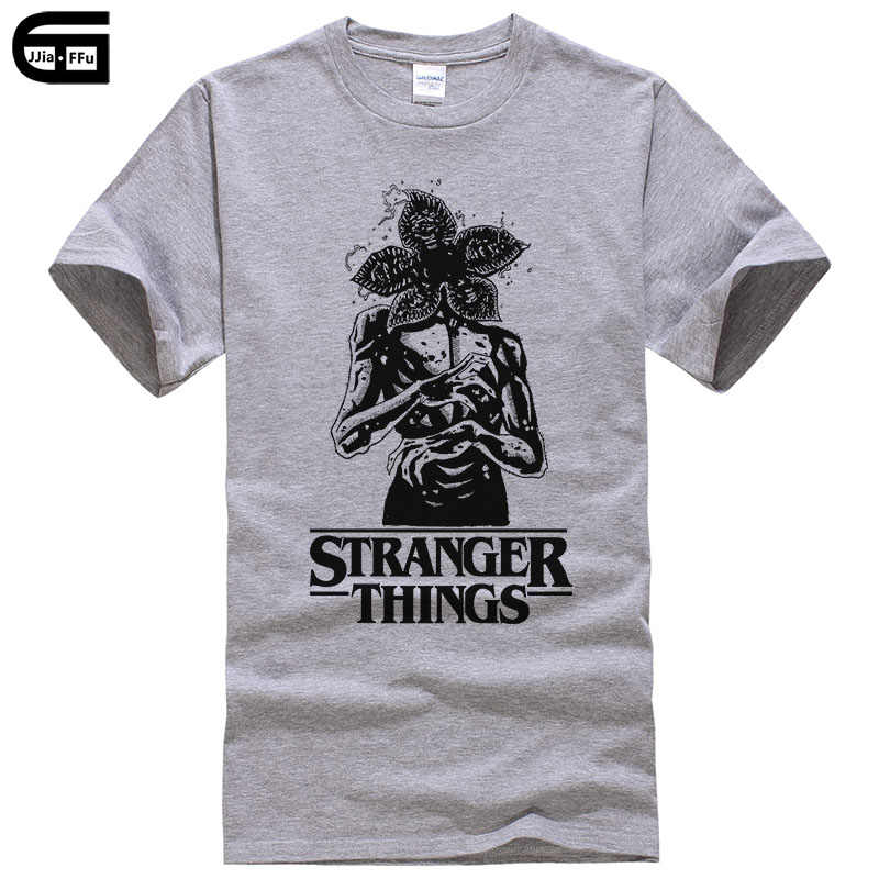 New Street Brand Stranger Things T Shirt Men Funny Strange Demogorgon T-shirt Summer Short Sleeve Print Tee Male Clothing T214