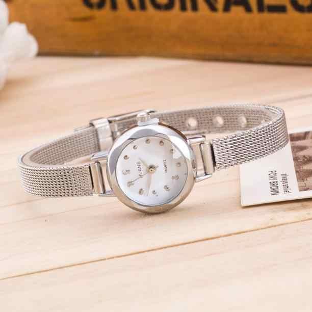 Reloj de cristal para mujer reloj de vestir de cuarzo de marca de lujo relojes de pulsera de acero inoxidable para mujer Montre de correa delgada para mujer