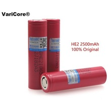6pcs original 18650 3.7V 2500 mAh HE2 IMR18650 Rechargeable high-drain battery, MAX 20A 35A discharge for LG e-cigarette battery