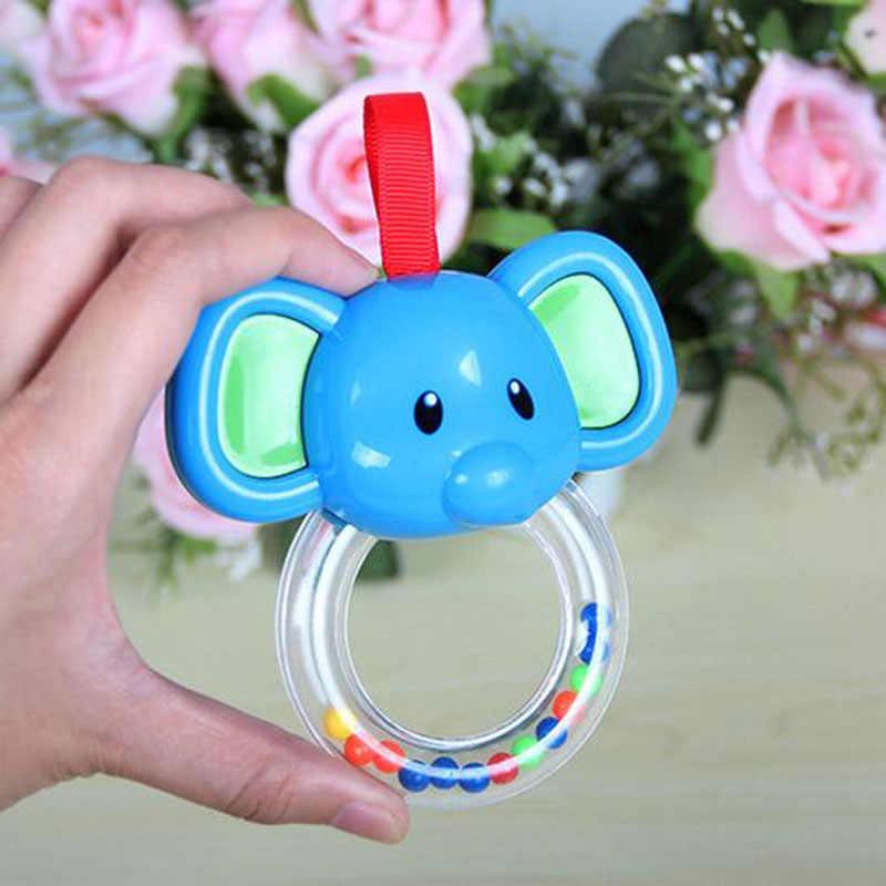 Heißer Verkauf Cartoon Elefanten Kuh Nette Baby Stop Weinen Rassel Vocal Hand Glocke Beißring Infant Zubehör Neugeborenen Spielzeug Geschenke