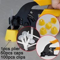 Free Shipping Tile Leveling System Spacer Clip Make Wall Floor Level Construction Tool Include 50caps 100straps