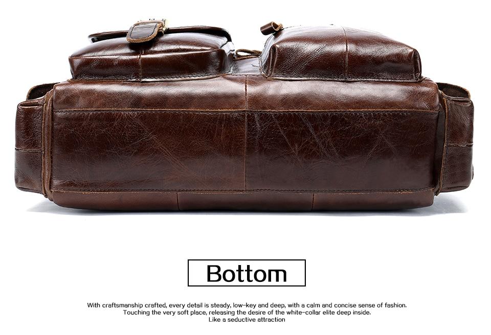 WESTAL men's briefcase leather laptop bag men shoulder bag male briefcases handbags office bags for men business porte document