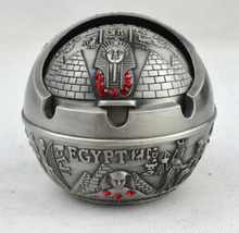 hot deal buy the egyptian pyramid of a spherical metal ashtray,lighters & smoking accessories,  metal decorative arts and crafts. men's gift