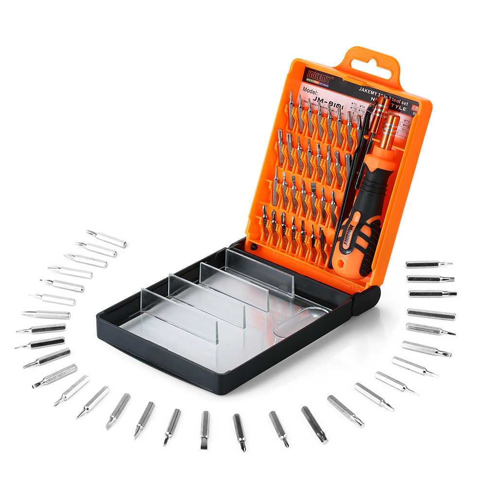 33 в 1 Набор отверток магнитная отвертка Биты электронный ремонтный набор инструментов для ремонта мобильного телефона JM8101