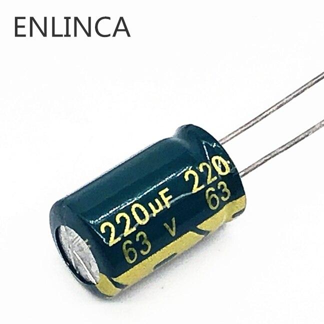 100pcs 220uF 63V 12.5x20mm 63V220UF Japan ELNA  Audio Capacitor high quality