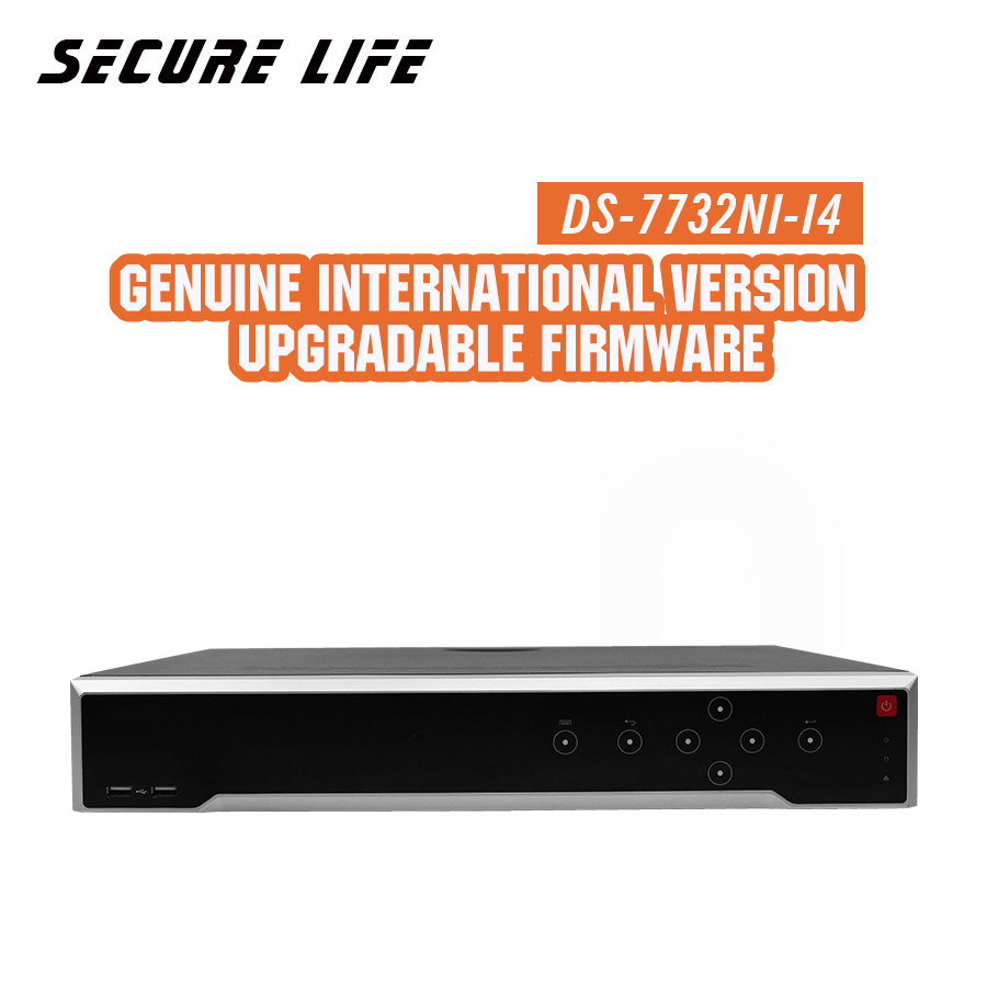 Free shipping DS-7732NI-I4 English version 32CH 4K NVR with 4 SATA and NON POE, HDMI up to 4K,ANR,alarm Recording at up to 12 MP hikvision ds 7716ni i4 ds 7732ni i4 12mp 16ch 32ch nvr security surveillance digital video recorder onvif protocol 4 hdd ports