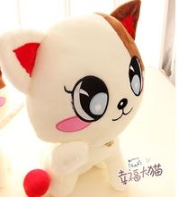 new cute plush Plutus cat toy big eyes lovely cat doll with bell about 35cm