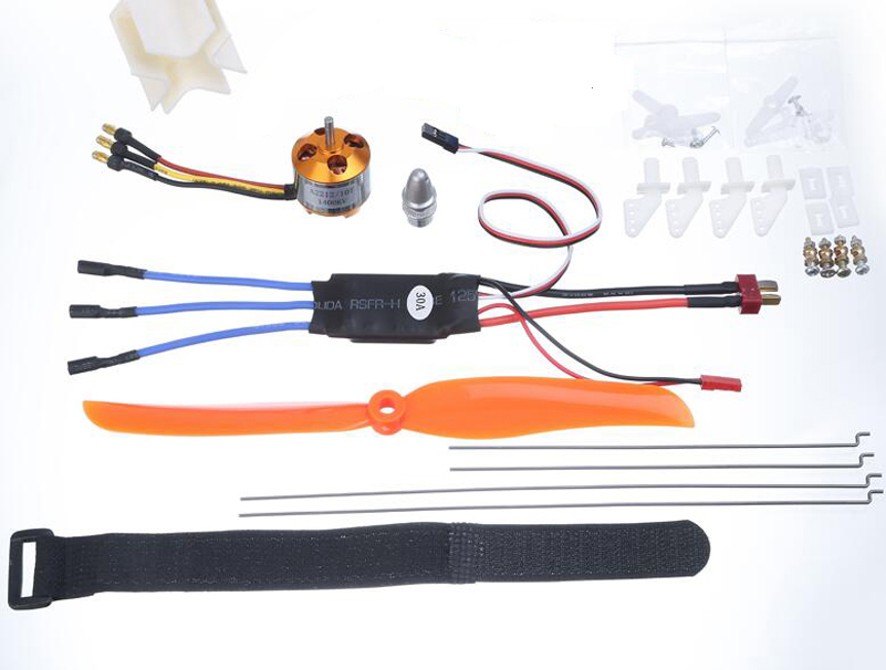Model Aircraft Power Set XXD 1400KV Motor + XXD 30A ESC + 9g Servo + 8060 Propeller Kits for SU 27 Fixing Wing KT Airplane Parts