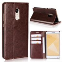 Genuine Leather Case For Xiaomi Redmi Note 4x Case Cover Flip Luxury Phone Cases Redmi Note