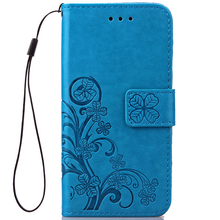Funda Clover Book Case For Samsung Galaxy Note 3 4 5 PU Leather Cover Luxry Flip Capa Telephone Mobile Phone Accessorie Cases