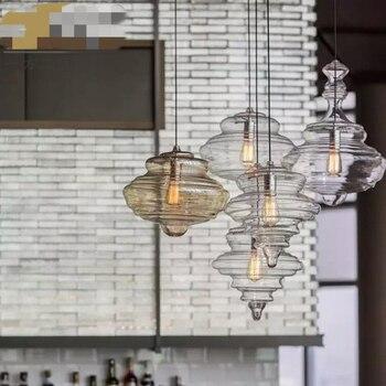 Новый прозрачный стеклянный светодиодный подвесной светильник для столовой, винтажный подвесной светильник для гостиной, ресторана, зала, ...