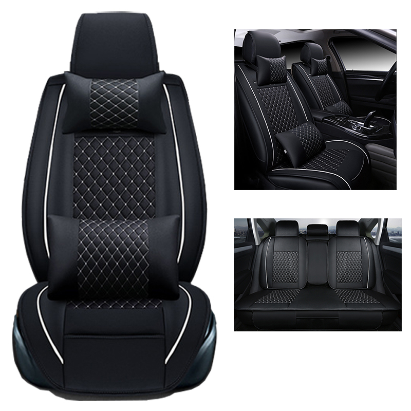Front and Rear Universal Car Seat Cover set For PEUGEOT 206 207 301 307 308 406 408 508 3008 auto accessories styling 180 16 9 fast fold front and rear projection screen back