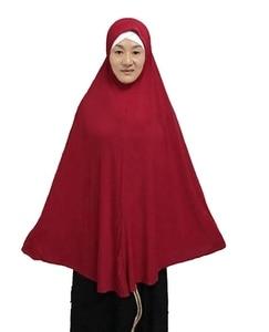 Image 3 - قبعة مسلمة طويلة عصرية للحجاب قطعة واحدة سادة كبيرة الحجم حوالي 130 سنتيمتر من الخلف