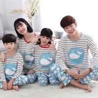 Chất lượng cao Gia Đình phù hợp với pajama set mom dad trẻ em Gia Đình Phù Hợp Với trang phục mẹ cha daugther và con trai gia đình đặt quần áo