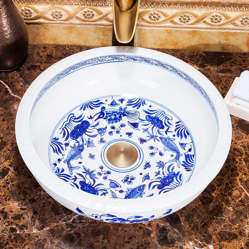 Здесь продается  Chinese Hand Painted Blue And White Ceramic Bathroom Basins  Строительство и Недвижимость