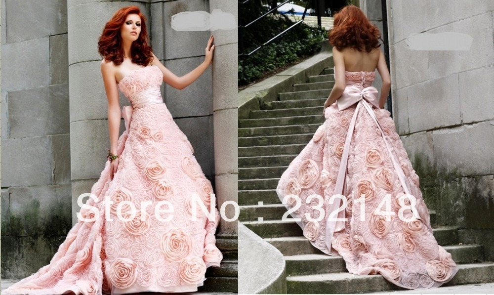 Finest Compare Prices On Wedding Dress With Pink Roses Online Ping And White