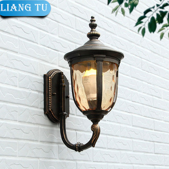 Europe outdoor Wall lamp garden lights  Lampshade E27 Edsion light aluminum baking vintage wall light