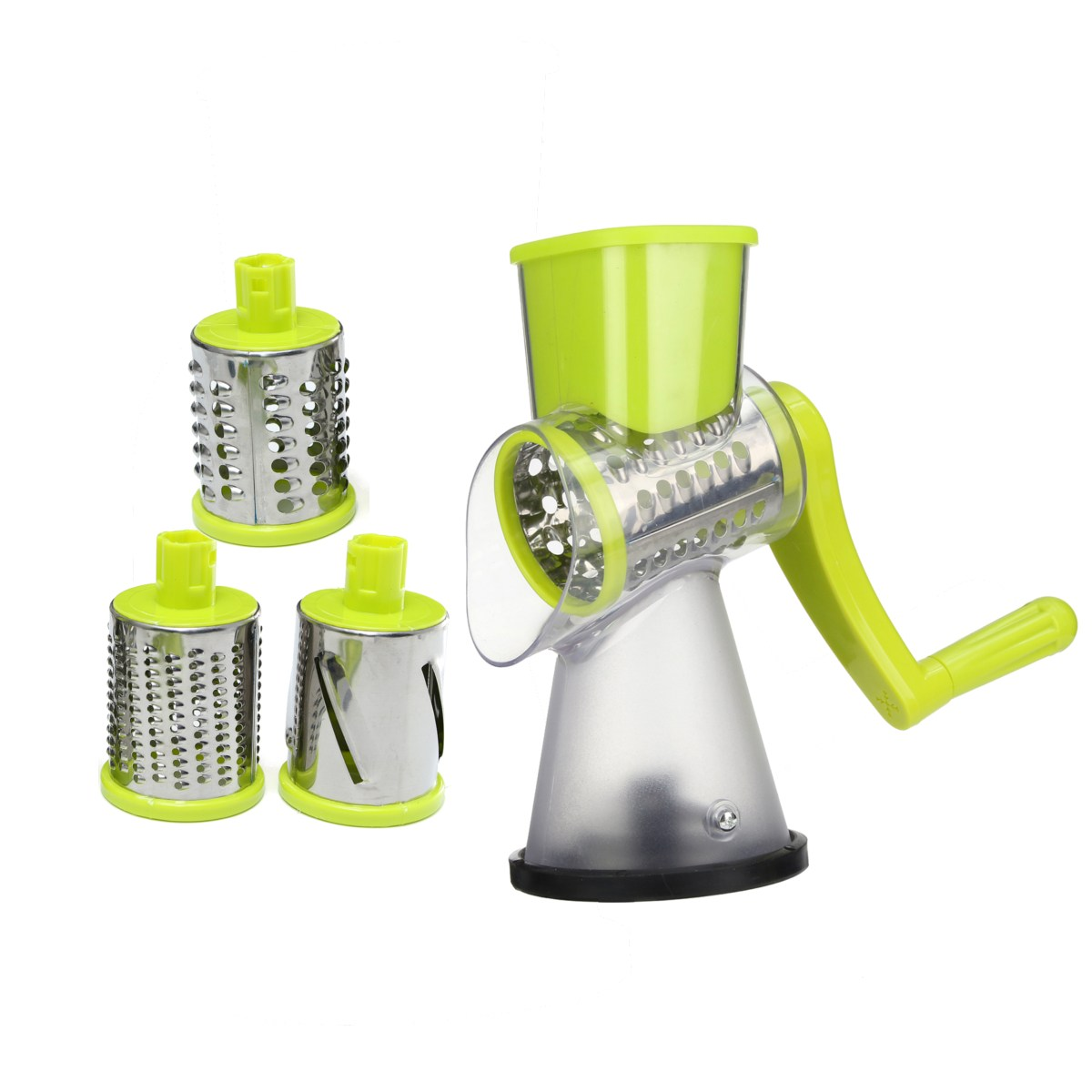 Manual Roller Vegetable Slicer Cutter Potato Chopper Carrot Grater Detachable 3 Stainless Steel Blade Non-Slip Base Meat Grinder no 5 small household manual meat grinder aluminium alloy body with stainless steel blade