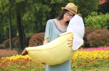 large 100cm lovely banana plush toy soft throw pillow,birthday gift h629